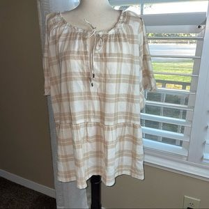 Anthropologie top size 2X